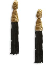 Oscar de la Renta Silk Tassel Earrings Silk Tassel Earrings - Lyst