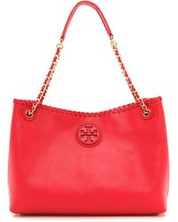 Tory Burch Marion Small Slouchy Tote - Royal Tan - Lyst