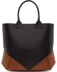 Givenchy Black and Cognac Leather Easy Tote - Lyst
