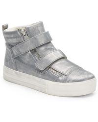Ash Jump Metallic Leather Hi-top Sneakers - Lyst