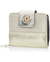 River Island Gold Metallic Square Purse - Lyst