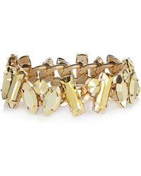 River Island Gold Tone Chunky Stone Bracelet - Lyst