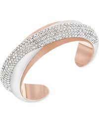 Swarovski Two-tone Crystal Cuff Bracelet - Lyst