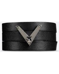Valentino | Noir Logo Bracelet | Lyst