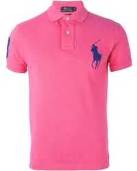 Polo Ralph Lauren Logo Embroidered Polo Shirt - Lyst