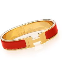 Hermes Red Clic H - Lyst