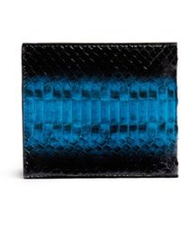 Paul Smith Snakeskin Effect Leather Billfold Wallet - Lyst