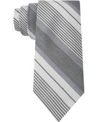 Calvin Klein Chambray Multi-Stripe Skinny Tie - Lyst