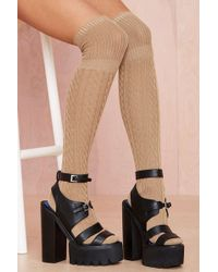 Nasty Gal High and Fly Socks - Lyst