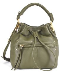 Sanctuary - Leather Drawstring Small Bucket Bag - Lyst