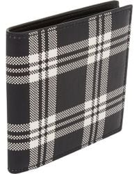 Alexander McQueen Black Plaid Billfold - Lyst