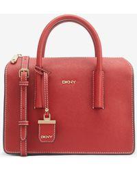 DKNY - Saffiano Leather Satchel - Lyst
