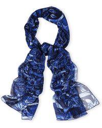 Dior Oblong Silk Scarf blue - Lyst