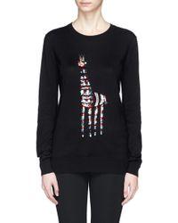 Markus Lupfer Tribal Giraffe Sequin Natalie Sweater - Lyst