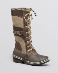 Sorel Lace Up Cold Weather Boots - Conquest Carly - Lyst