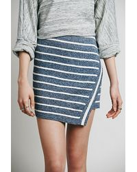 Free People Womens Nevermind The Lines Skirt - Lyst