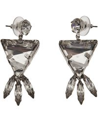 Tom Binns - Crystal Triangle Earrings - Lyst