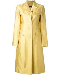 Alberta Ferretti Single Breasted Coat - Lyst