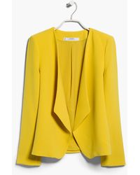 Mango Waterfall Structured Jacket - Lyst
