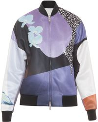 3.1 Phillip Lim Printed Techno Bomber Jacket - Lyst