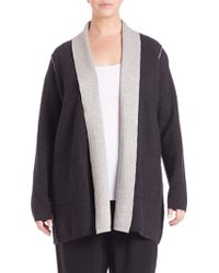 Eileen Fisher | Draped Open-front Cardigan | Lyst