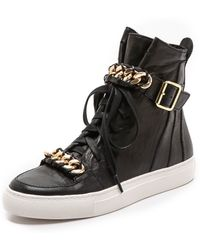 Rachel Zoe Blaine Sneakers with Chain  Black - Lyst