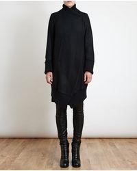 Ann Demeulemeester Asymmetric Textured Jacket - Lyst
