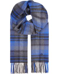 Mulberry Check Scarf - Lyst