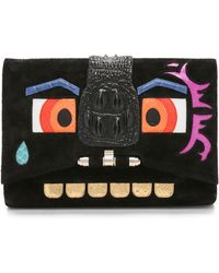 Kara Ross - The Boxer Clutch - Black - Lyst