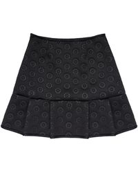 Cynthia Rowley Bonded Tennis Skirt black - Lyst