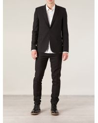 Saint Laurent Black Classic Blazer - Lyst