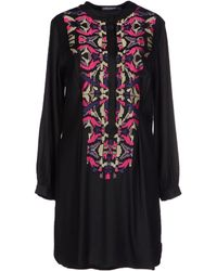 Antik Batik Black Short Dress - Lyst
