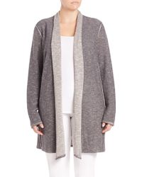 Eileen Fisher | Organic Linen & Cotton Shawl Cardigan | Lyst