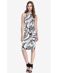 Express Stretch Midi Sheath Dress - Abstract Print - Lyst