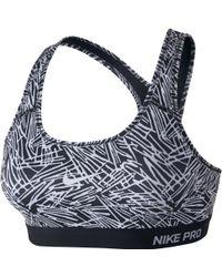Nike - Pro Classic Padded Palm Print Sports Bra - Lyst