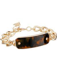 Guess Enamel Tortoise Id Bracelet - Lyst