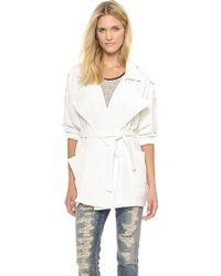 Shakuhachi China White Overcoat  White - Lyst