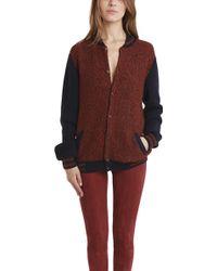 Monsieur Lacenaire Knitted Varsity Jacket - Lyst