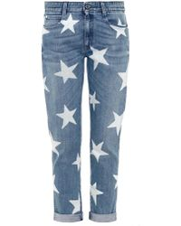 Stella McCartney Star-Print Slim Boyfriend Jeans - Lyst