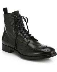 To Boot Brennan Wingtip Leather Boots - Lyst