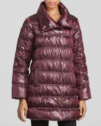 Eileen Fisher Petites Ruched Puffer Coat - Lyst