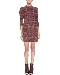 Free People Abstract-print Cutout Bodycon Dress - Lyst