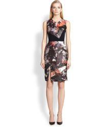 Prabal Gurung Asymmetrical Seamed Combo Sheath Dress - Lyst