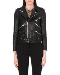 The Kooples Leather Biker Jacket - For Women - Lyst
