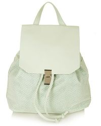 Topshop Soft Perforated Backpack - Lyst