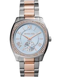 Michael Kors Bryn Two-Tone Stainless Steel Glitz Watch - Lyst