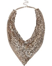 River Island Gold Tone Scarf Effect Necklace - Lyst