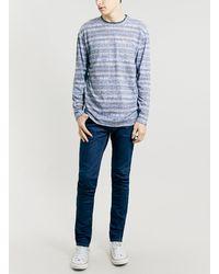 Topman Blue Abstract Print Longsleeve T-shirt - Lyst