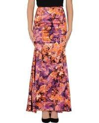 Just Cavalli Long Skirt - Lyst