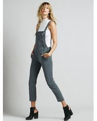 Free People Washed Corduroy Overall - Lyst